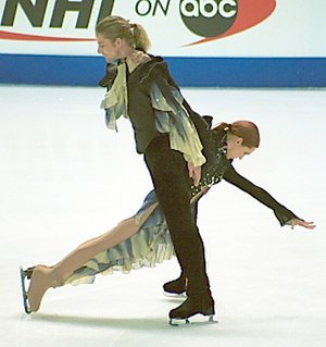 LHC Les Lions - Marina Anissina and Gwendal Peizerat train at the Patinoire Charlemagne