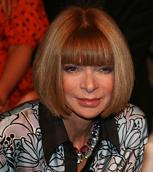 Anna Wintour at the Twenty8Twelve fashion show...