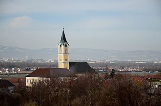 Ansfelden - Image: Ansfelden Kirchturm