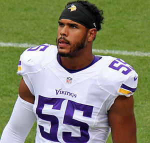 Anthony Barr (American football) - Barr with Vikings in 2015