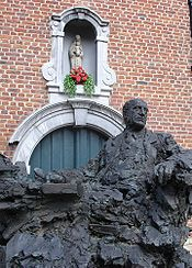 Statue of Anton van Wilderode in Sint-Niklaas, Belgium