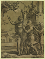 Antonio da Trento - The Tiburtine sibyl and the Emperor Augustus original LOC.png