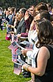 Applicants take the Oath of Allegiance at a naturalization ceremony (36898946486).jpg
