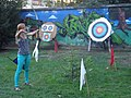 Archery shooting at WA targets in Čakovec, Croatia (2012).jpg