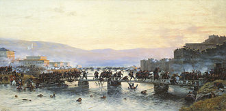 Ardahan - The storming of the Ardahan fortress by the Russian troops on 5 May 1877. A painting by  Aleksey Kivshenko.