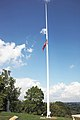 Arlington House - flagpole at E side of house - 2011.jpg