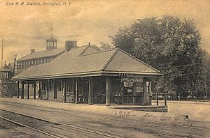 Arlington, New Jersey - The old Arlington Train Station, circa 1910