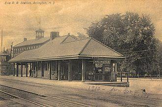 Arlington, New Jersey - The old Arlington Train Station, circa 1910