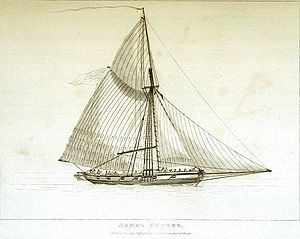 Hired armed vessels - Armed cutter, etching in the National Maritime Museum, Greenwich