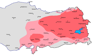 Western Armenia a term used for eastern parts of Turkey (formerly the Ottoman Empire) that were part of the historical homeland of Armenians.