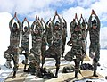 Army Jawans performing Yoga, on the occasion of the 3rd International Day of Yoga – 2017, at Siachen on June 21, 2017 (3).jpg