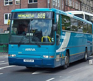 Arriva North East - Plaxton Prima bodied DAF SB3000 in Newcastle in May 2009