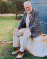Art Boucot during field excursion at Canobla NSW, approx 2001.png