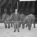 Artiesten treden in circus Boltini op ( Tom Kelling olifant), Bestanddeelnr 914-1003.jpg