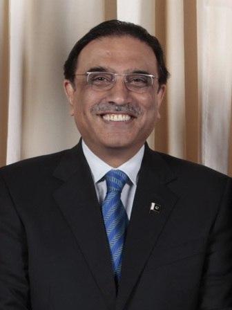 Asif Ali Zardari with Obamas (cropped)