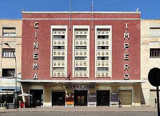 Italian Eritreans - Asmara's Cinema Impero was built in 1937. It is widely considered a masterpiece of Italian Art-Deco architecture.