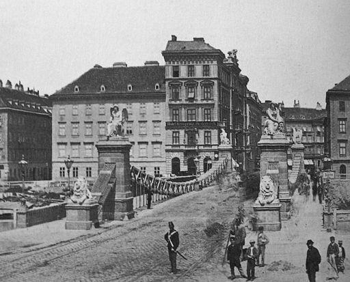 Aspernbrücke um 1875