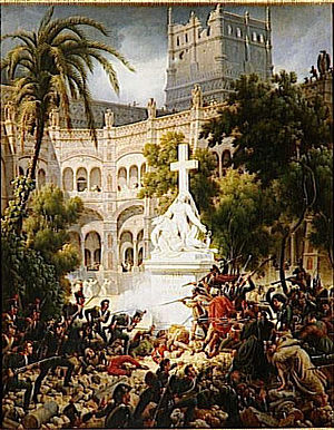 Assault on San Engracia monastery by Louis-François Lejeune.jpg