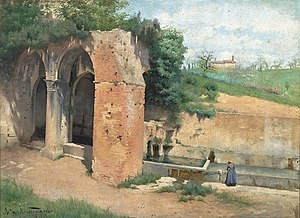 Asta Nørregaard - At a Spring with Ancient Ruins, Italy