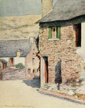 "Mortimer Menpes - At Rochefort-en-Terre (from ""Brittany"")"