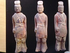 Northern Dynasties tombs of Ci County - Image: Attendants figurines(侍从俑)