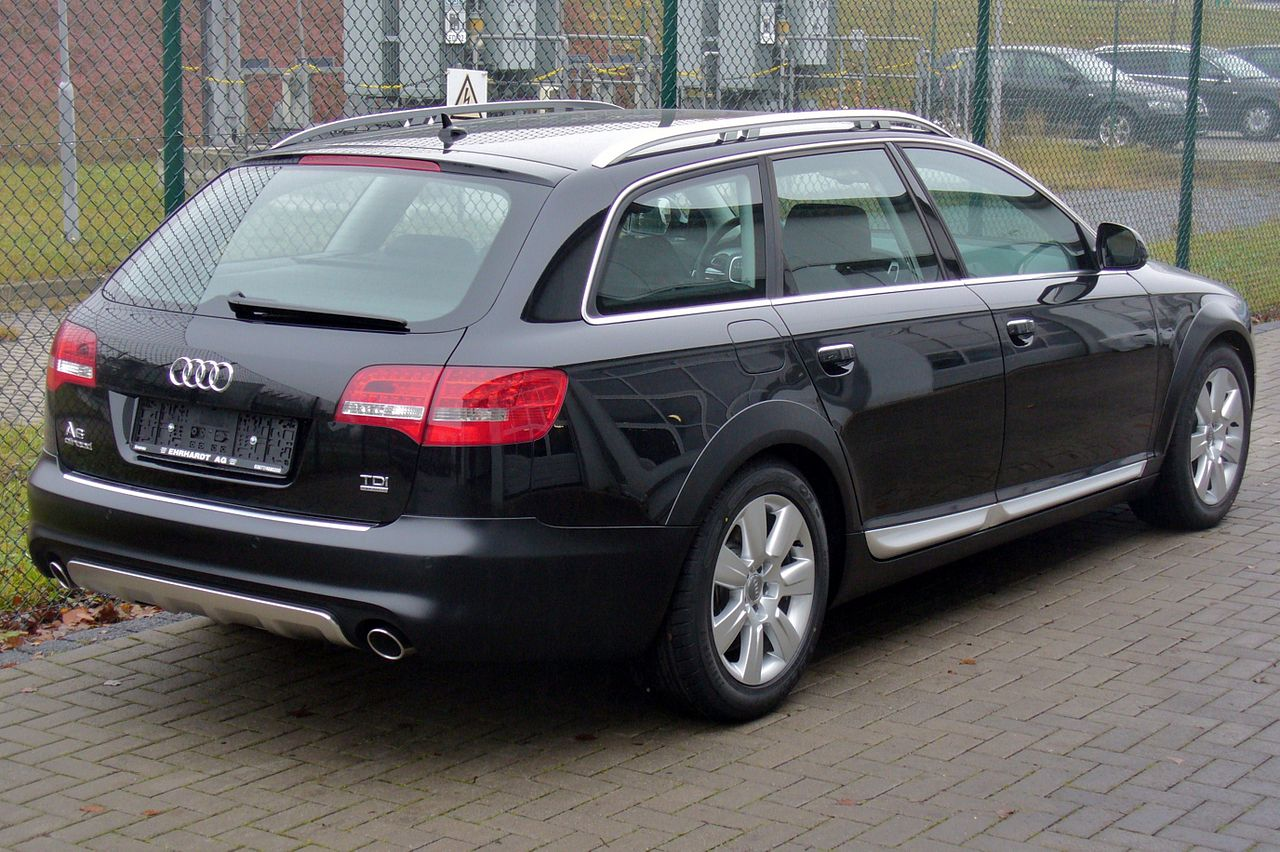 file audi a6 allroad quattro 3 0 tdi phantomschwarz heck. Black Bedroom Furniture Sets. Home Design Ideas