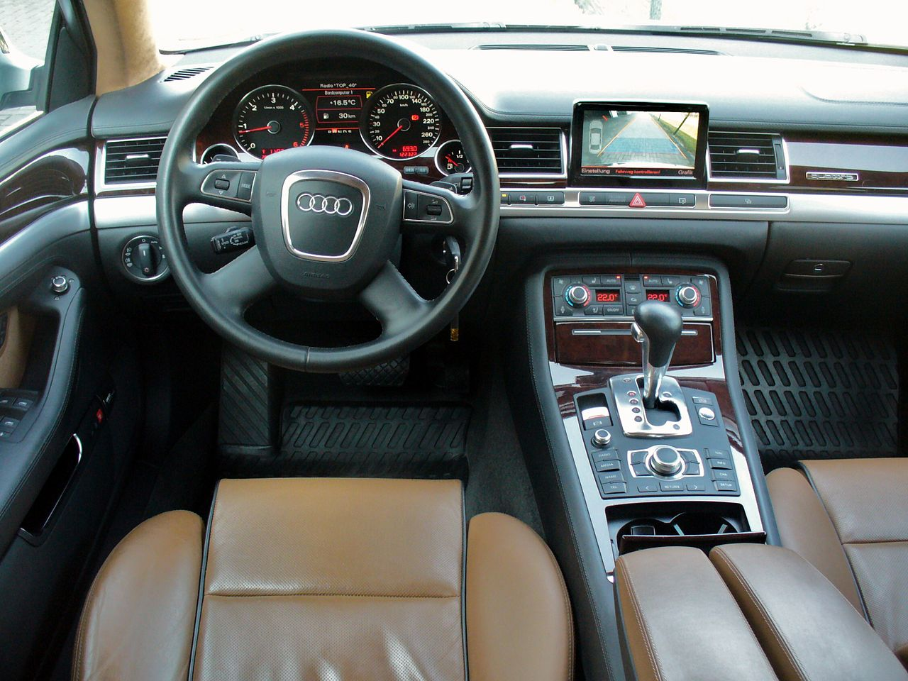 file audi a8 4 2 tdi quattro tiptronic interieur jpg wikimedia commons. Black Bedroom Furniture Sets. Home Design Ideas