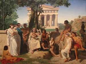 Ancient accounts of Homer - Homer, 1841, by Auguste Leloir