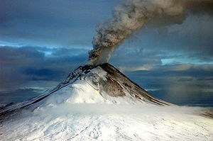 Alaska - Augustine Volcano erupting on January 12, 2006
