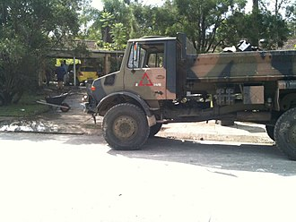 Moggill, Queensland - Army vehicle used in the clean-up following the 2011 floods.