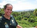 Australian Tina Macumber volunteered with the Samoa International Cricket Association, Samoa 2009. Photo- AusAID (10675108404).jpg