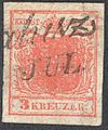 Austria 1850 3Kr Ia filled center.jpg