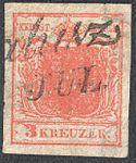 Austria 1850 3Kr Ia filled center.jpg