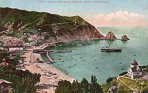 Avalon Bay around 1910, before the constructio...