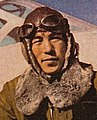 Aviators of the Imperial Japanese Army in 1942 face detail, Front 3-4 (cropped).jpg