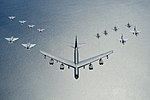 B-52 Stratofortress leads a formation over the Baltic Sea.jpg