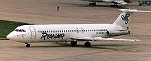 Ryanair BAC 1-11 nel 1988.