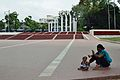 Baby with Mother - Central Shaheed Minar Plaza - Dhaka Medical College Campus - Dhaka 2015-05-31 2573.JPG