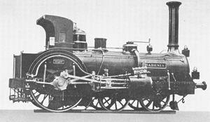 "Crampton locomotive - German Crampton locomotive ""Badenia"""