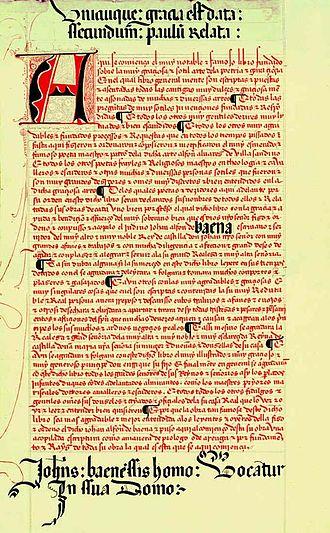 Juan Alfonso de Baena - The Surviving 15th Century Manuscript of Cancionero de Baena