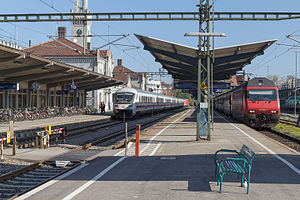Konstanz station - Konstanz Railway Station with DB- and SBB trains