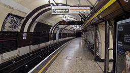 Bakerloo line platform Baker Street Underground Station