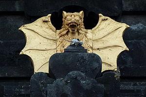 Pura Goa Lawah - Bat temple ornaments inlaid with gold at Pura Goa Lawah.
