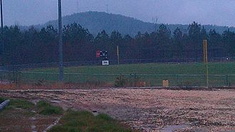 Woodall Mountain - Image: Ball field below woodall mountain