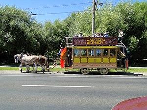 Trams in Ballarat - Ballarat horse tram on 125th anniversary of the opening, 26 December 2012