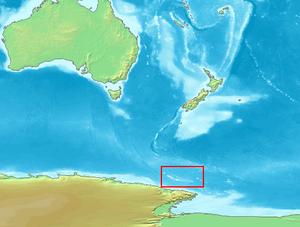 Karte von Balleny-Inseln