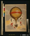 """Balloon labeled """"H. Lachambre,"""" with two men riding in the basket LCCN2002716360.tif"""
