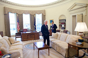 President Barack Obama meets with President Cl...