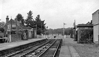 Ingleton branch line - Barbon railway station in 1962
