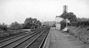 Bardon Mill railway station - Bardon Mill railway station in 1962